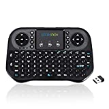 Mini Wireless Keyboard with Touchpad, 2.4Ghz Wireless Mini Handheld Keyboard with Rechargeable Battery, Remote Control Keyboard Compatible with PC, Laptop, Smart TV, Windows, TV Box, etc