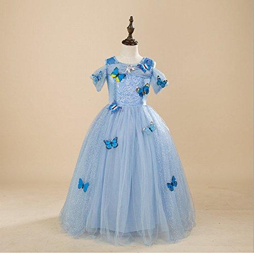 Pour fille Filles fête Tenue Déguisement Reine des neiges princesse Halloween Vêtements Carnaval Cosplay Robe – Manches Courtes Style