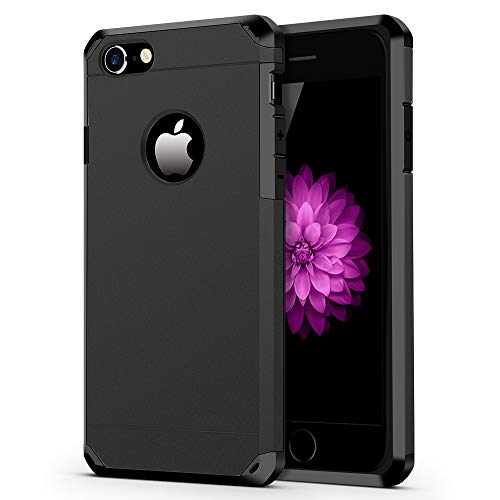 iPhone 7/8 Case, ImpactStrong Heavy Duty Dual Layer Protection Cover Heavy Duty Case for Apple iPhone 7/8 (Gun Black)