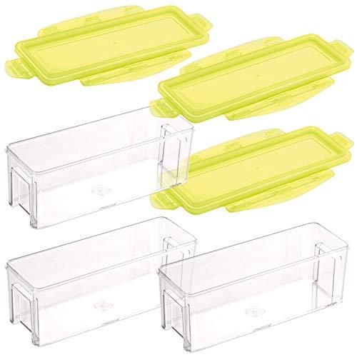 Genius Nicer Dicer Magic Cube Gourmet Auffangbehälter inkl. Frischhaltedeckel (6 Teile) Auffangbox Auffangdose Dose - zum Hineinschneiden, Aufbewahren und Transportieren