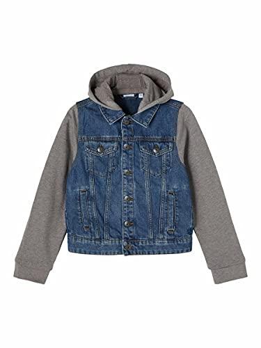 NAME IT Nkmtpims Dnm 2534 Hood Jacket Noos Chaqueta, Medio De Mezclilla Azul, 134 cm para Niños