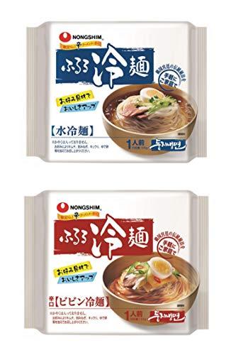 農心 ふるる 水冷麺 2袋 ビビン冷麺 2袋 合計 4袋セット | 韓国冷麺 韓国ビビン冷麺 手軽 簡単 調理 本場韓国の味 れい麵 ピビン冷麺 물냉면 비빔냉면