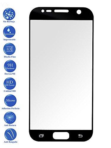 Todotumovil Protector de Pantalla Samsung Galaxy S7 Negro Completo 3D Cristal Templado...