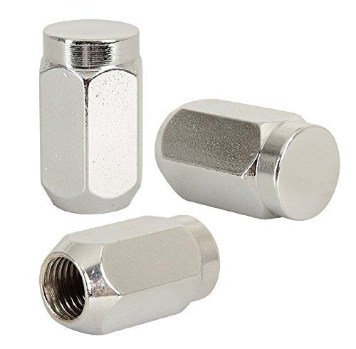 20 Radmuttern chrom 12x1,5mm Nuts Muttern mit 60° Konus - Schlüsselweite : 19mm.