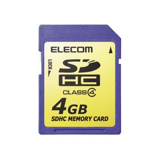 『エレコム SDHCカード 4GB Class4 NINTENDO 3DS動作確認済み MF-FSDH04G』の1枚目の画像