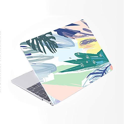 SDH Funda para MacBook Pro de 15 pulgadas con CD-ROM 2010-2012 lanzado protectora dura y cubierta de teclado solo compatible con Mac Pro 15 pulgadas modelo A1286, plantas abstractas 6