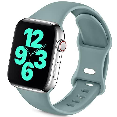 Jiamus Sport Armband Kompatibel mit Apple Watch Armband 38mm 42mm 40mm 44mm,Weiche Silikon Ersatz Armband für iWatch Series 6, 5, 4, 3, 2, 1, SE