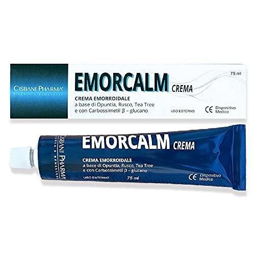Emorcalm, crema emorroidale | 75 ml, a base di Opuntia, Tea Tree, Rusco | Pomata emorroidale e ragadi anali | Potente azione lenitiva e sollievo dal dolore | Cisbani Pharma