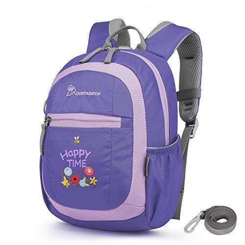 MOUNTAINTOP 4.5L Mini Backpack Kinder Kleinkinder Rucksack mit Anti-verlorene Bügel,Brustgurt,Namensschild für Baby Kleinkinder, 24 x 9.5 x 31CM