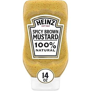 Heinz Spicy Brown Mustard  14 oz Bottles Pack of 6