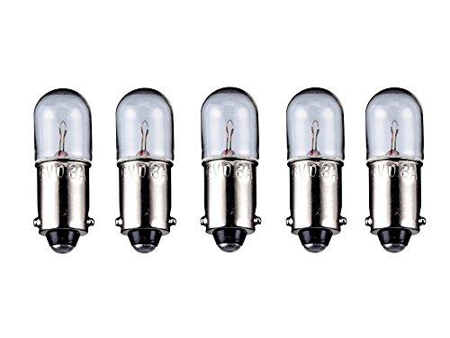 5er Set WireThinX Röhrenlampe 2 W, 6 V - Sockel BA9s - 10 x 28 mm