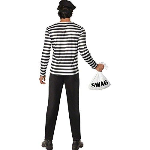 Traje del ladrón de banco - ladrón de disfraz Bandido bandolero ...