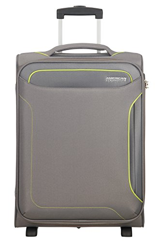 American Tourister Holiday Heat Bagaglio a Mano, Upright S, lunghezza 40cm (55cm-42L), Grigio (Metal Grey)