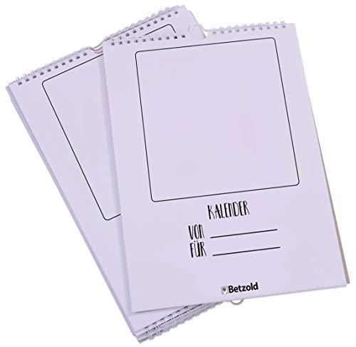 Betzold 11561 - Bastel-Kalender für Kinder 10er Bastel-Set - Kreativ-Kalender Wandkalender selbstgestalten, basteln