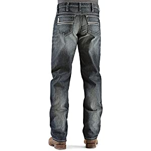 Cinch Men's  Relaxed Fit Mid-Rise Jeans Dark Stonewash