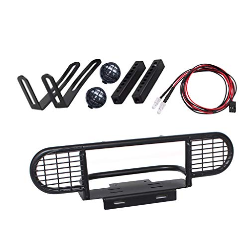dailymall 1/10 Scale Metal RC Front Bumper with Light for D90 D110 Land Rover Defender, RC Crawler Accessories, Remote Controlled Devices Parts