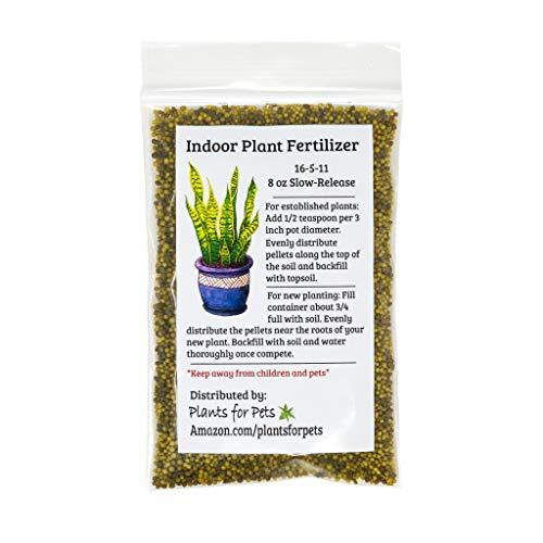 Indoor Plant Food (Slow-Release Pellets) All-purpose House Plant Fertilizer | Common Houseplant Fertilizers for Potted Planting Soil | by Aquatic Arts