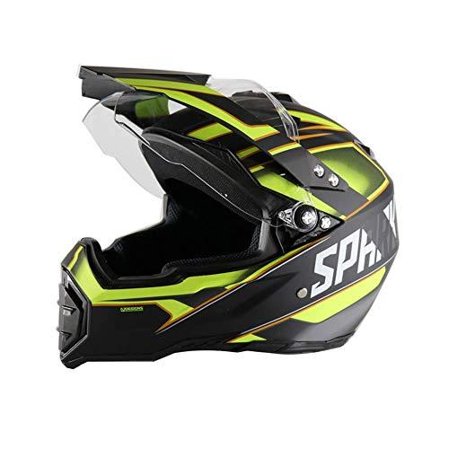 Cruz casco de la moto de motocross adulto Casco con visera, forro...