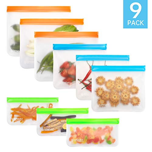 9 PC Extra Thick BPA-Free Reusable Storage Bags Pack $5.60(60% Off)