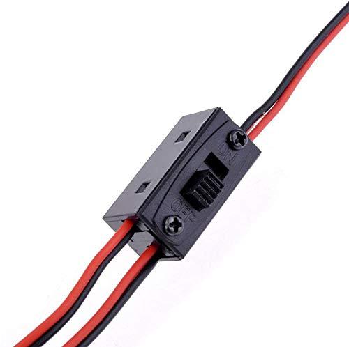 YUNIQUE ESPANA 1 Pieca ON / Off Interruptor Fuente de alimentación RC, Interruptor de 3 Vías Interruptor de Encendido/Apagado de batería con Conector JR y Cable de Carga para Futaba