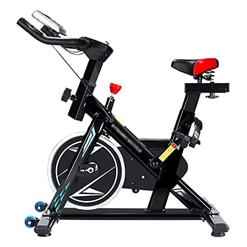 DJDLLZY La Bici di Riciclaggio, Cyclette Interni Cyclette Belt Drive, Monitor LCD, Comodo Cuscino e Tranquillo for la casa Cardio Workout