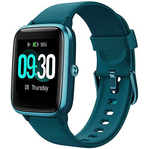 zyz ID205L Smart Watch 1.3 Pulgadas, IP68 Impermeable, monitoreo de frecuencia cardíaca, Reserva a Largo Plazo, Pulsera Inteligente Deportiva,Verde