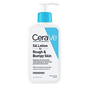 CeraVe SA Lotion for Rough & Bumpy Skin | 8 Ounce | Vitamin D, Hyaluronic Acid, Salicylic Acid & Lactic Acid Lotion | Fragrance Free