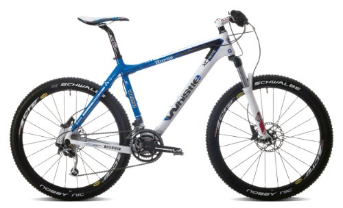 WHISTLE Huron Fischietto 1161D 436H 30Spd Suspenstion da Uomo da Mountain Bike, Colore: Blu/Bianco, 18,5 cm