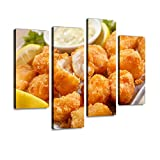 YKing1 Beer Battered Fish Bites with tarter Sauce appetizers and Pictures Wall Art Painting Pictures...