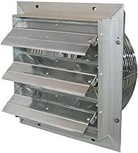 J&D Manufacturing VES24C ES Aluminum Shutter Fan, 24