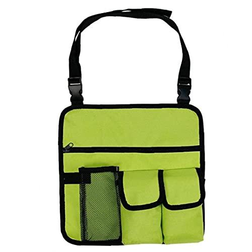 Armés Organizador Silla de Playa al Aire Libre Colgando Handy Bolsillo Bolso Hombro Fluorescente Verde