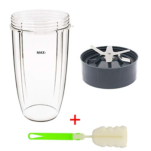 Tanzfrosch 32oz Cup and Extractor Blade Replacement Parts Blender Accessories Compatible with Nutri Bullet 600W/900W Models