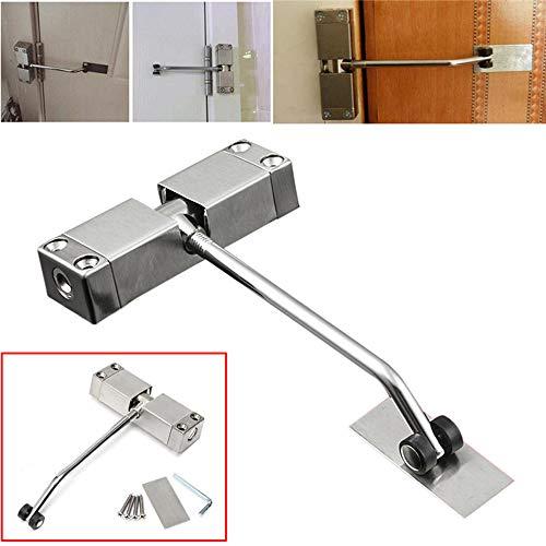 Z-Shine deursluiter, automatisch gemonteerde voorjaarsdeursluiter, brandvertragend, roestvrij staal verstelbaar oppervlak scherm deur sluiter, levenslange garantie