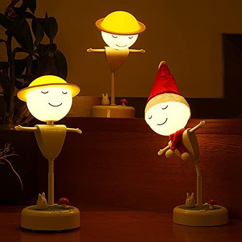 LED luz nocturna lámpara de noche quitamiedos mesita iluminación brillo usb recargable Conexión bluetooth blanco cálido quitamiedos infantil dormitorio Espantapájaros con luz para dormir desconectado