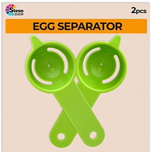 Egg Separator - Egg Yolk White Separator - 2 PCS - Quick and Easily White Yolk Filter Cooking Tool - Easy Egg White Strainer - Yolk Separator