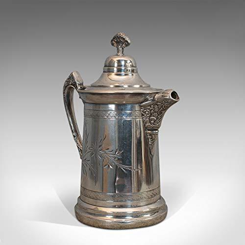 Antike Kaffeekanne, englisch, versilbert, Kaffeekanne, 19. Jahrhundert, C.1900