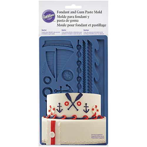 Wilton 409-7726 Moule pâte à Sucre Marin, Plastique, Bleu, 1,02x12,93x26,8 cm