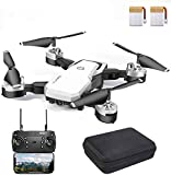 CIGOCIVI 48Mins Flight Time Drone, RC Drone with 1080P HD Camera Live Video FPV Quadcopter with Headless Mode, Altitude Hold Helicopter with 2 Batteries(24Mins + 24Mins)-White
