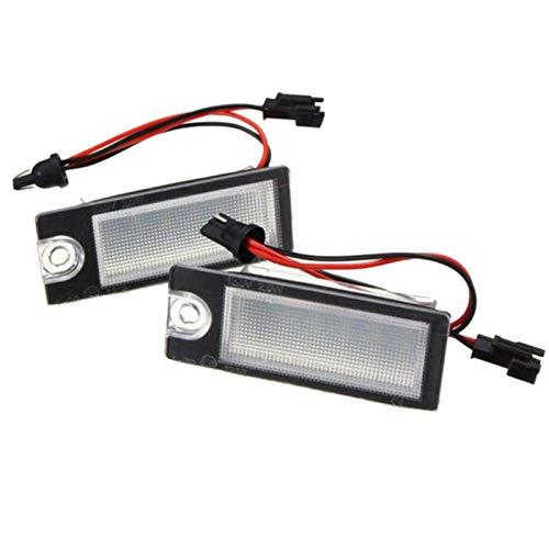 ACAMPTAR Luz de MatríCula LED de 2 Piezas para V70 CX70 S60 S80 XC90