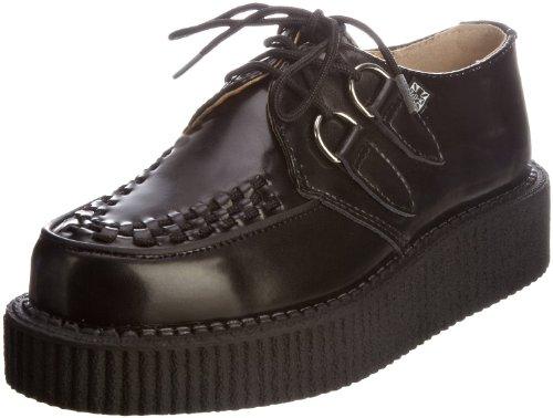TUK A6802 Mondo Hallo Schwarzes Leder Frauen der neuen Männer Creepers Schuhe Boots-39