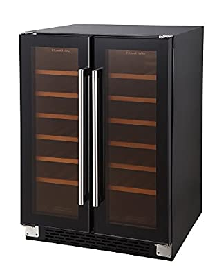 Russell Hobbs RHBI36DZWC2 36 Bottle Dual Zone Freestanding Wine Cooler - Black from Russell Hobbs