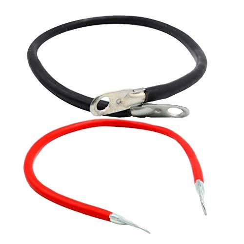 NLLeZ 2 unids 5 Gauge 100A Cable DE Cobre Cable DE Cable Sistema DE Cable DE Cable DE Terminal Conectores Negativos para Barco de automóvil RV  (Color : Rojo)