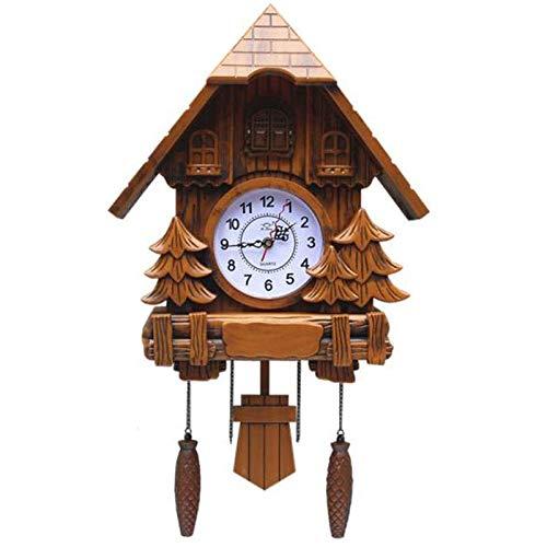 YXMxxm Reloj De Cuco Reloj De Pared De La Casa De La Selva Negra con Música Y Péndulo,Reloj Colgante Vintage para Decoración del Hogar (Sin Pilas),A2