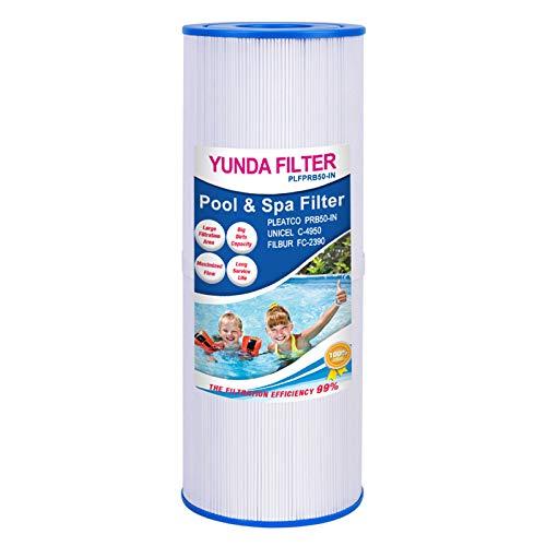 Yunda Spa Filter Whirlpool Hot Tub Ersatz PRB50-IN PRB501N Unicel C-4950 FC-2390 Kompatibel mit Pleatco, 50 m2, Spa-Filterpatrone