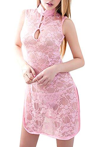 『Anna Mu セクシー ミニ チャイナドレス コスプレ コスプレ衣装 コスチューム ピンク レディース z133-11』のトップ画像