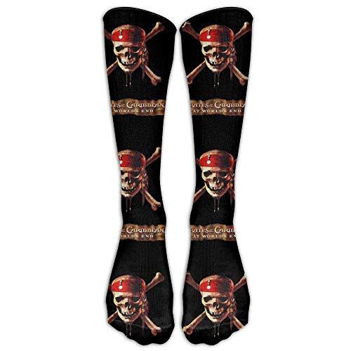 Zome Lag Männer'Frauen Frauen' Funny Pirates Caribbean Long Sock Athletic Calf High Crew Fußball Socken Sport