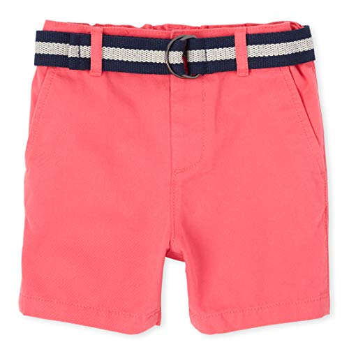The Children's Place Baby Boys' Belted Chino Shorts, ASTILBE, 5T