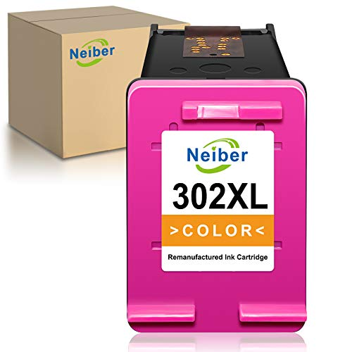 Neiber Cartucce d'inchiostro Compatibile per HP 302 302XL per HP Deskjet 1110 2130 3632 3630 2132 Officejet 5230 5220 3831 3830 3832 4650 Envy 4527 4520(1xColore)