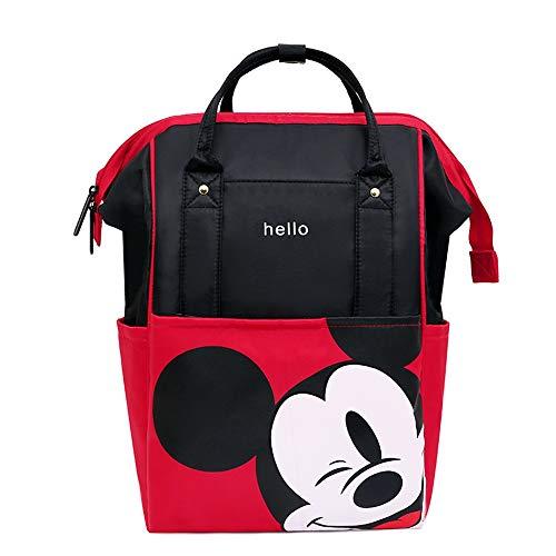 Craftsboys Bolsa de pañales Mochila para maternidad/pañales, bolsa de bebé, bolsa de viaje de Mickey Mouse, bolsa de enfermería, bolsa de cuidado de bebé (rojo)