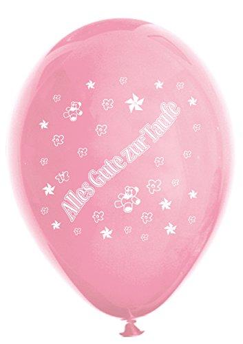 Unbekannt 10 Luftballons Alles Gute zur Taufe, rosa & Fuchsia, ca. 30 cm Durchmesser